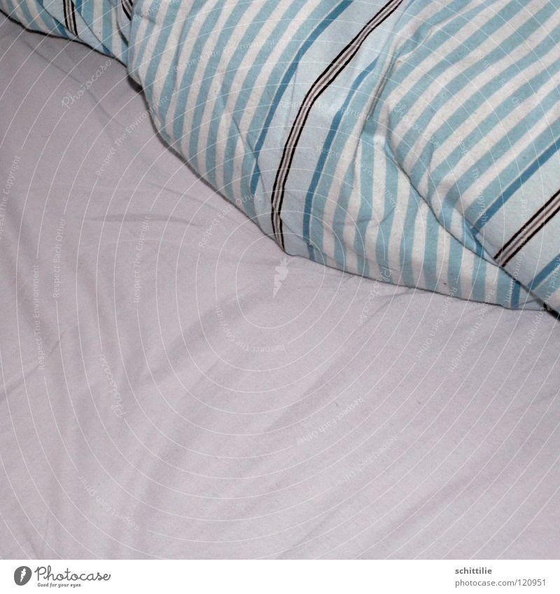 Bettgeflüster weiß blau schlafen Freizeit & Hobby Streifen Stoff Kissen Bettdecke