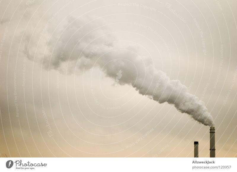 Contra Himmel Wolken 2 dreckig Industrie Energiewirtschaft Klima Rauch Abgas Schornstein Aktien gegen Umweltverschmutzung Wasserdampf Klimawandel Kohlendioxid