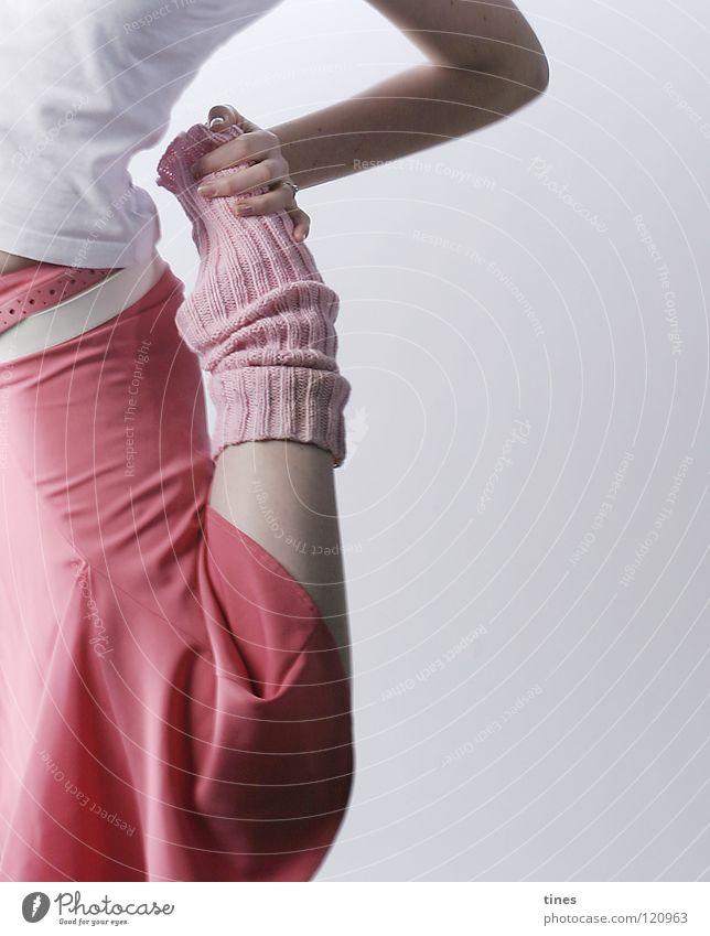 ich lass mich nicht verbiegen... Hand Fuß Tanzen Kraft rosa Balletttänzer Tänzer Stulpe