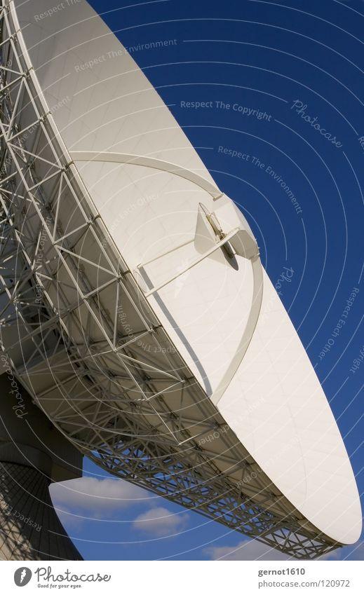 Ohrensausen senden Sendgericht hören live Datenübertragung Suche finden Satellitenantenne Fernsehen Radioteleskop Teleskop High-Tech Funktechnik Wissenschaften