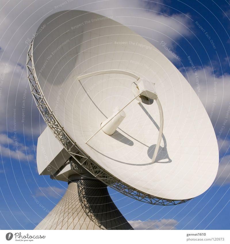 Big Jim senden Sendgericht hören live Datenübertragung Suche finden Satellitenantenne Fernsehen Radioteleskop Teleskop High-Tech Funktechnik Wissenschaften