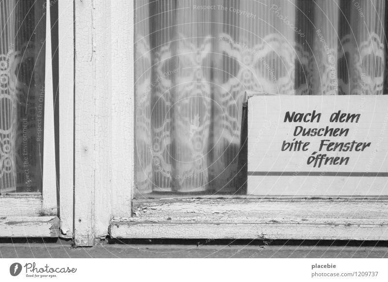 Keine Macht dem Schimmel Stadt Wasser Haus Fenster Umwelt Wand Gefühle Mauer Holz Gesundheit Schwimmen & Baden Linie Gesundheitswesen Wohnung Dekoration & Verzierung Häusliches Leben