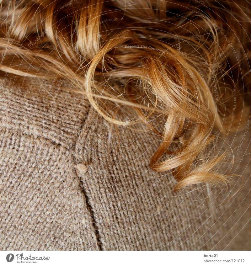 Goldlocke niedlich braun blond Wellen schön Frau feminin Spielen Student Haare & Frisuren gold Locken Nahaufnahme gelockt Naturlocke lustig Wildtier beim lernen