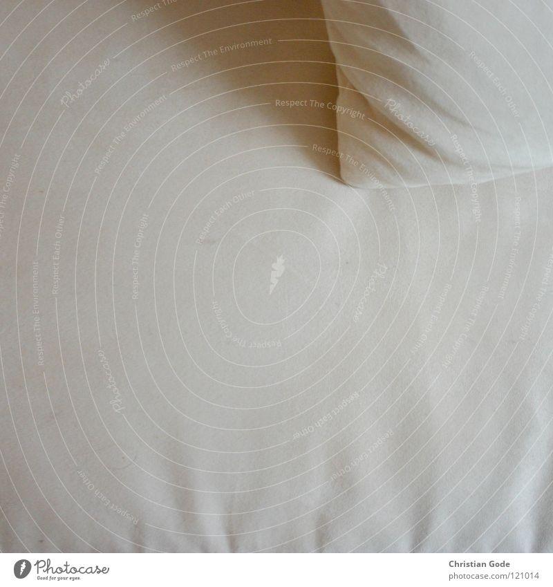 Couchlandschaft Sofa Kissen Vogelperspektive Erholung Feierabend schlafen Fernsehen Besucher Gast Wohnzimmer Stoff weich weiß beige Freizeit & Hobby Möbel