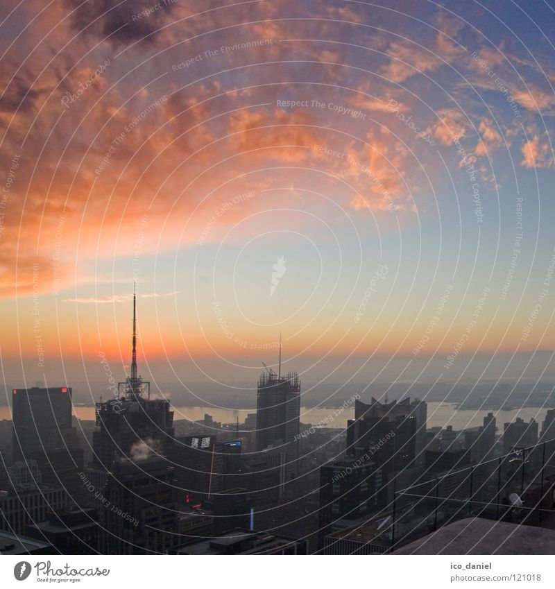 sunset IV New York City Sonnenuntergang schön traumhaft Luftverschmutzung Wolken Straßenschlucht Schlucht Verkehr Amerika Manhattan Stadtzentrum New York State