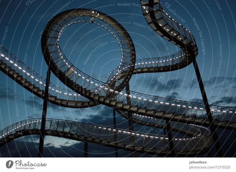 schwindelig | Level Novice blau Wolken Freude schwarz Architektur Kunst Treppe Angst elegant groß Ausflug Geschwindigkeit Abenteuer Höhenangst Stahl Jahrmarkt