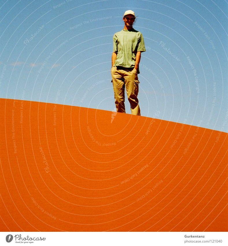 Life on Mars Outback Australien rot Alice Springs Horizont mehrfarbig Ferien & Urlaub & Reisen Wüste Erde Sand Himmel blau orange Stranddüne Kontrast Farbe