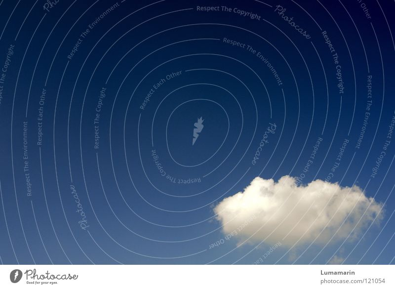 Wolke 7 schön Himmel blau Sommer Freude Ferien & Urlaub & Reisen ruhig Wolken Einsamkeit Freiheit Glück träumen Luft hell Wetter fliegen