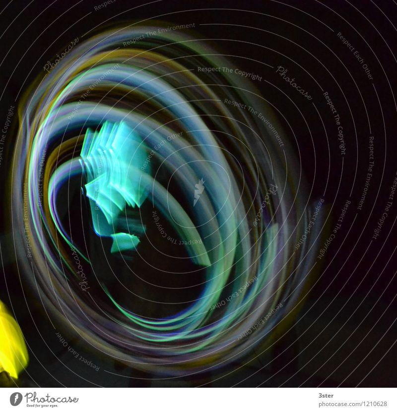 Neonwirbel Kunst Netzwerk drehen Sinnesorgane Stress neonfarbig Neonlicht Verwirbelung kreisen Herz-/Kreislauf-System Licht Silvester u. Neujahr Lichtspiel