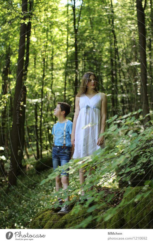 Orientierungsphase Mensch Kind Natur Ferien & Urlaub & Reisen Jugendliche Sommer Baum ruhig Mädchen Wald Junge Spielen Glück träumen Zufriedenheit 13-18 Jahre