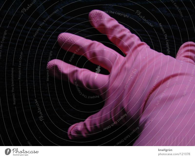 Keine Latexallergie schwarz rosa Finger Bekleidung Sicherheit Körperhaltung Falte Handschuhe Haushalt Gummi anziehen Faltenwurf spreizen