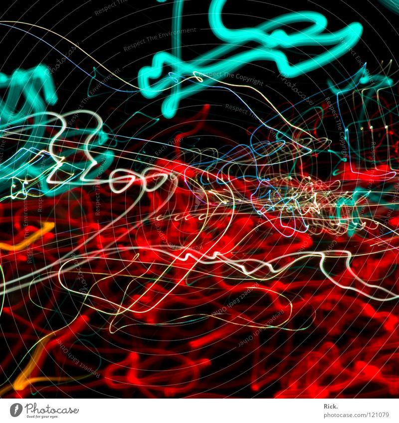 .StreetLights Rushing By weiß blau Stadt rot Freude schwarz Farbe Lampe PKW Linie Beleuchtung Wellen Straßenverkehr Suche Verkehr Geschwindigkeit