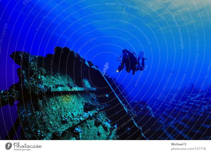 Wracktauchen Unterwasseraufnahme Ägypten Ferien & Urlaub & Reisen Wassersport Afrika Meer Rotes Meer Strasse von Gubal Wrack Carnatic Tiefenrausch Tauchsafari