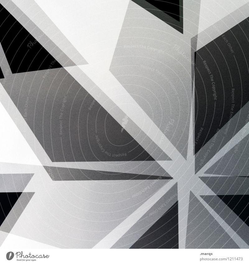 Stern modern elegant Stil Design Linie Streifen Stern (Symbol) außergewöhnlich Coolness trendy einzigartig verrückt chaotisch Ordnung Irritation
