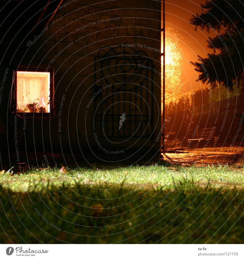 Arbeitszimmer Haus Raum Arbeit & Erwerbstätigkeit Nacht Langzeitbelichtung Winter Abend Beleuchtung