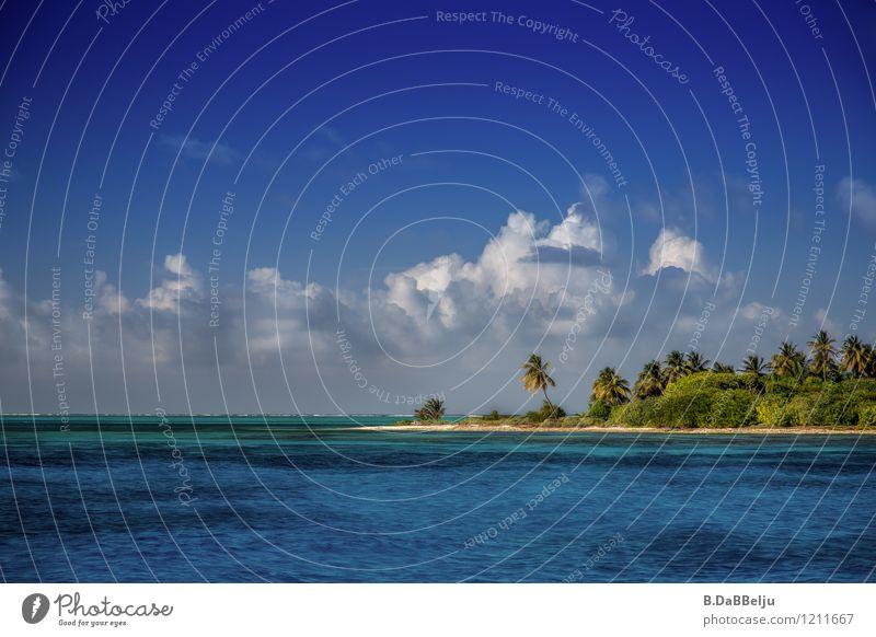 Ab auf die Insel Ferien & Urlaub & Reisen Tourismus Abenteuer Ferne Sommer Sommerurlaub Sonne Sonnenbad Strand Meer Landschaft Wasser Wolken Schönes Wetter Riff
