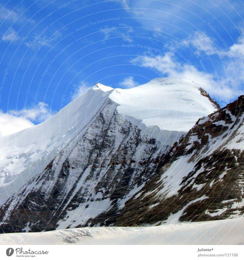 Wahnsinn!!!! Schnee weiß Wolken Himmel Wind Schweiz Berge u. Gebirge Bergsteigen Macht Felsen Heaven Sky Mountain Snow Niveau