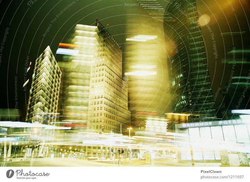 Berlin Potsdamer Platz Stadt gelb Stil Kunst Business Stimmung Fassade Design glänzend Häusliches Leben Büro Hochhaus ästhetisch Skyline Wahrzeichen trendy