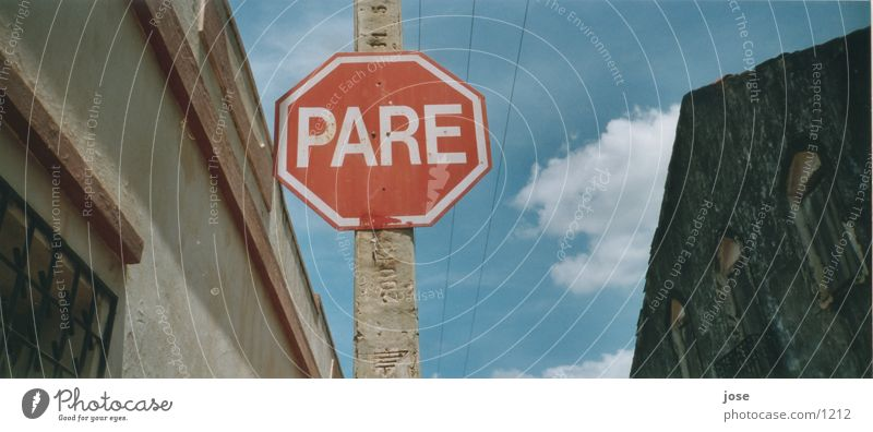 Zwischenstop Brasil Brasilien Stoppschild Dinge Beschilderung Verkehrschild