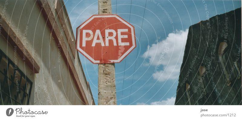 Zwischenstop Brasil Dinge Brasilien Verkehrszeichen Verkehrsschild Stoppschild