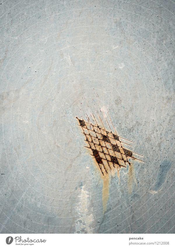 spreedorado | angekratzt Maschine Industrie Metall Zeichen Kommunizieren machen zeichnen Kunst Langeweile Verfall Kratzer Kratzspur Rost Oxidation Eisenplatte