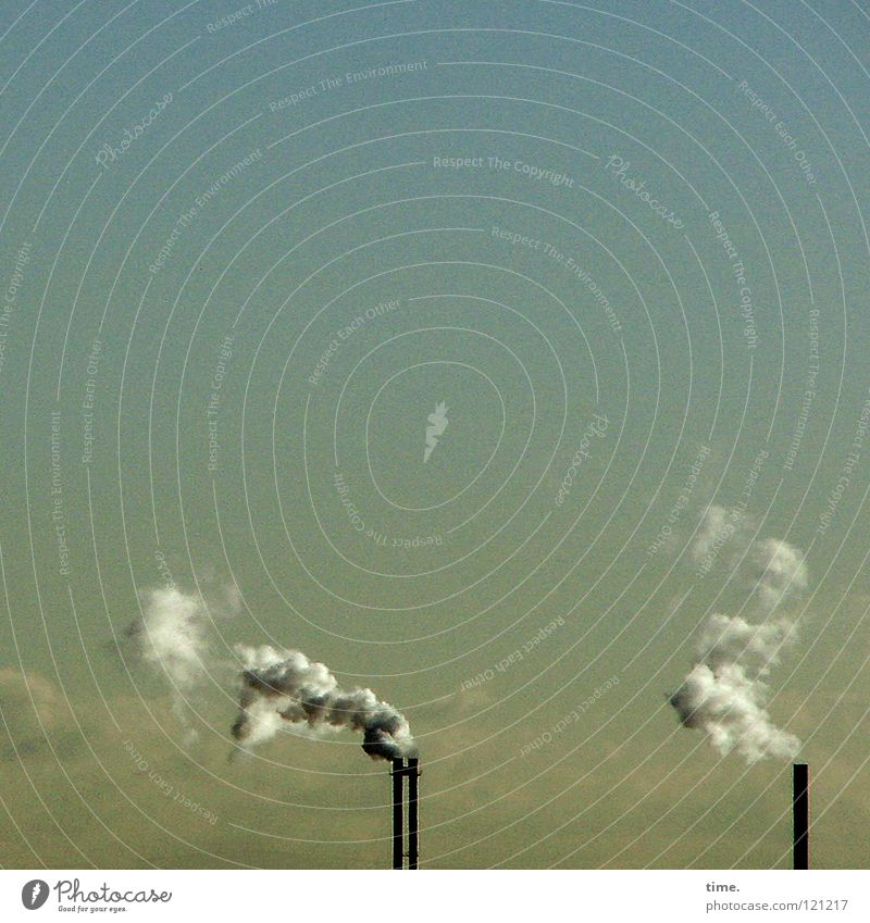 Nichtraucherschutzgesetzausnahmeverordnung (in Kraft) Leben Industrie Energiewirtschaft Luft Himmel Wolken Klima Klimawandel Schornstein Rauch atmen dreckig