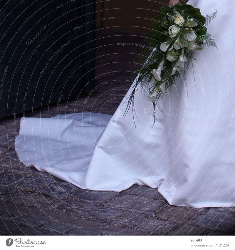 1/2 braut (4) Frau weiß Religion & Glaube Hochzeit Kleid Vertrauen Blumenstrauß Braut Ehefrau Brautkleid