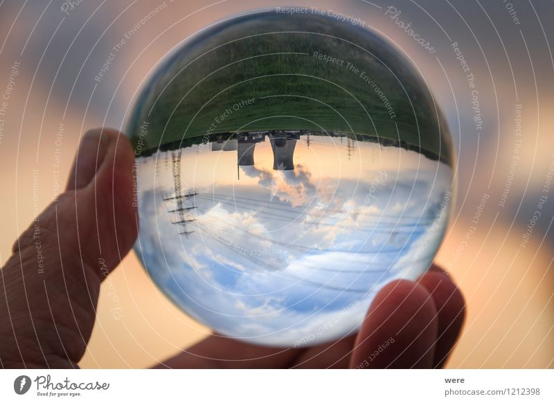 Energiewende Energiewirtschaft Erneuerbare Energie Sonnenenergie Kernkraftwerk blau Abenddämmerung Atomausstieg Energiepolitik Himmel Sonnenuntergang Strahlung