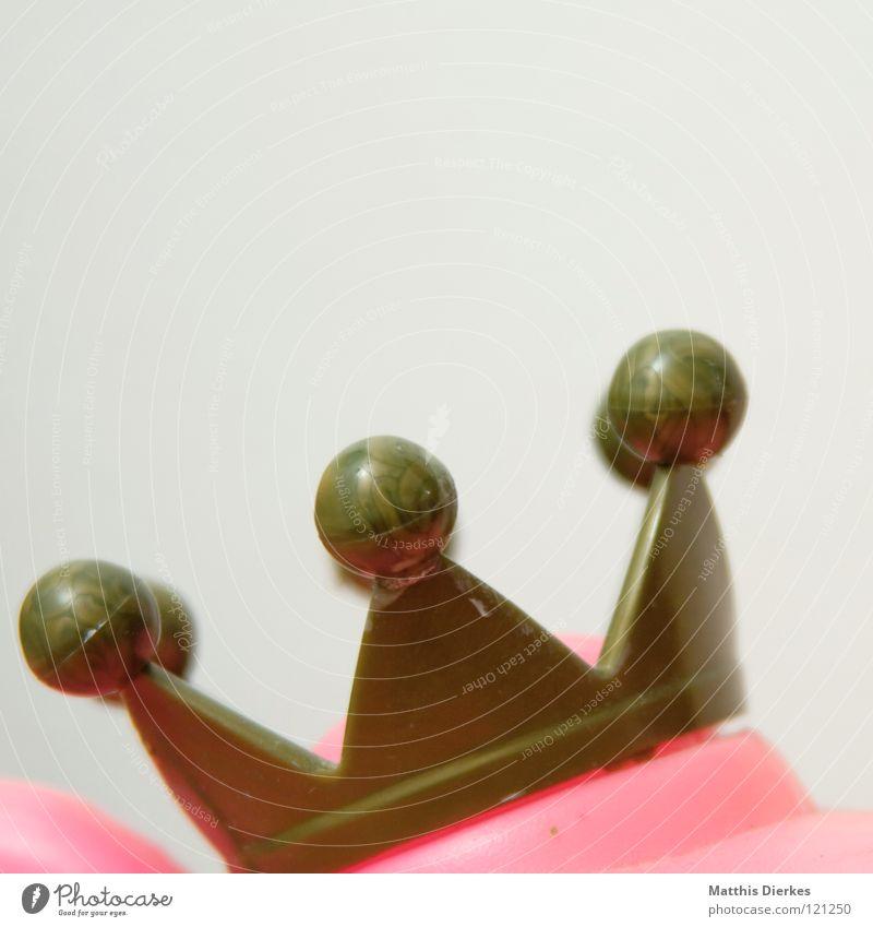 300 - Quak weiß rot Tier Auge lustig Mund rosa Dekoration & Verzierung Dinge Statue obskur Frosch Baumkrone Märchen König Ausstellung
