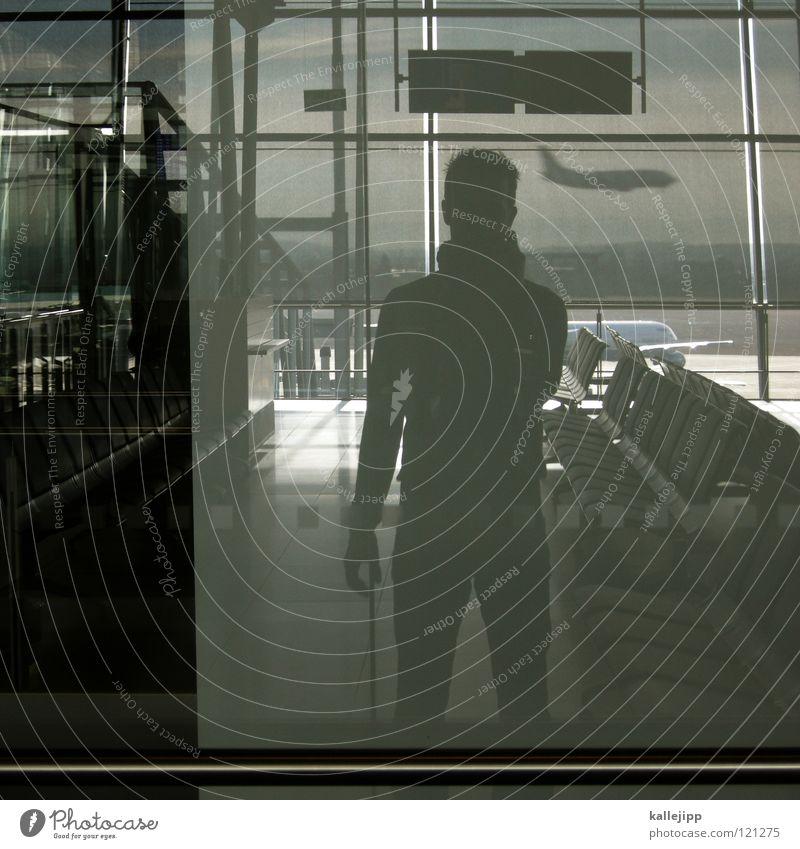 zurück Mensch Stadt Ferien & Urlaub & Reisen Fenster Beine Arbeit & Erwerbstätigkeit Schuhe Zeit Ausflug Flugzeug Luftverkehr Ecke Jeanshose Sitzung Verbindung