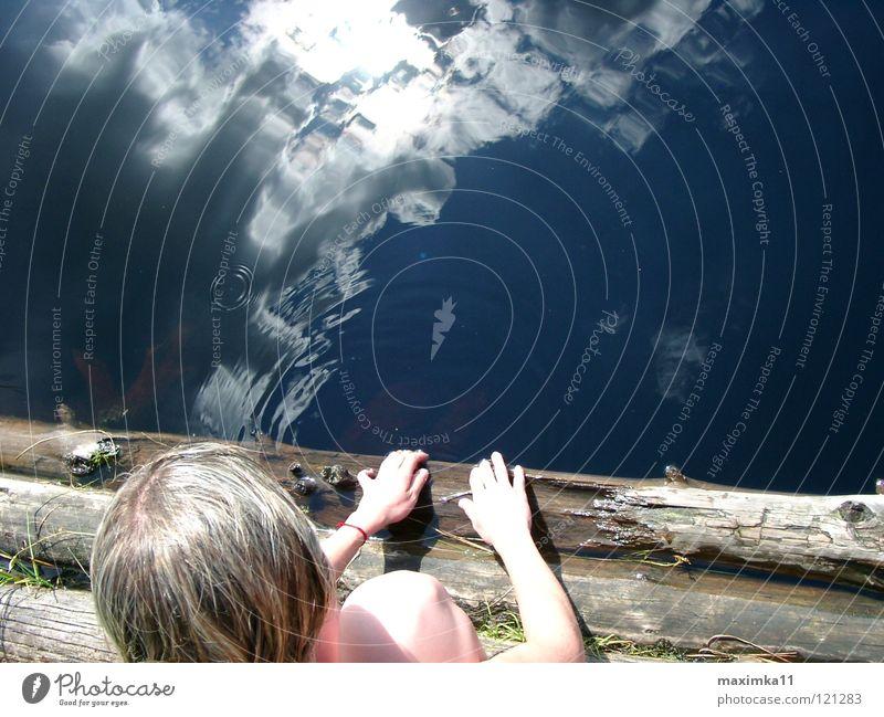 In die Tiefe Natur Wasser Himmel Wolken See Küste Freizeit & Hobby Schwimmen & Baden tief