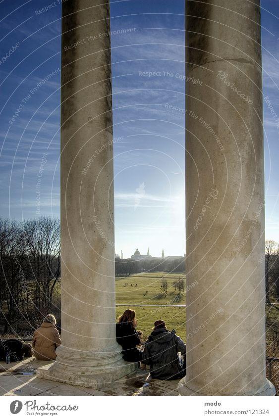 Frühlingsgefühle Mensch Natur Sonne Wolken Gefühle Frühling Paar paarweise München HDR Bayern