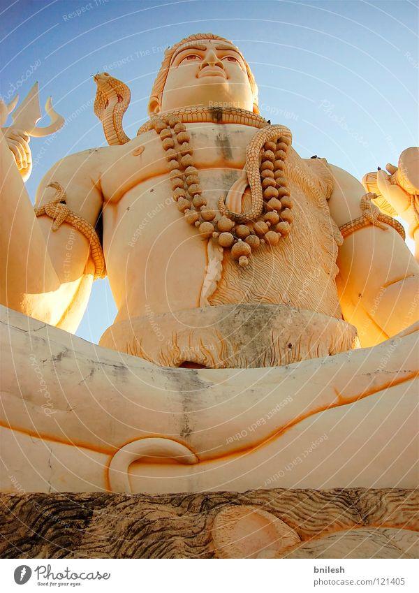 Lord Shiva Asien Design Indien planen Religion & Glaube Statue Himmel Wahrzeichen Denkmal asian ancient Kunst bricks carvings culture dwarka god
