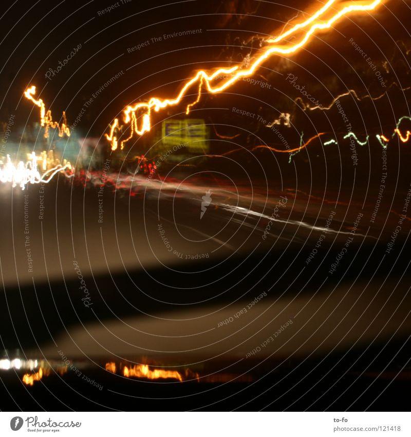 10 Sekunden Straße Lampe Zeit Verkehr fahren Leuchtspur
