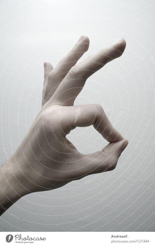 Ich Dich auch! Hand ruhig Finger leer Kreis gut Kommunizieren Symbole & Metaphern Zeichen Warnhinweis zeigen Schulklasse Sprache gestikulieren Prima unklar