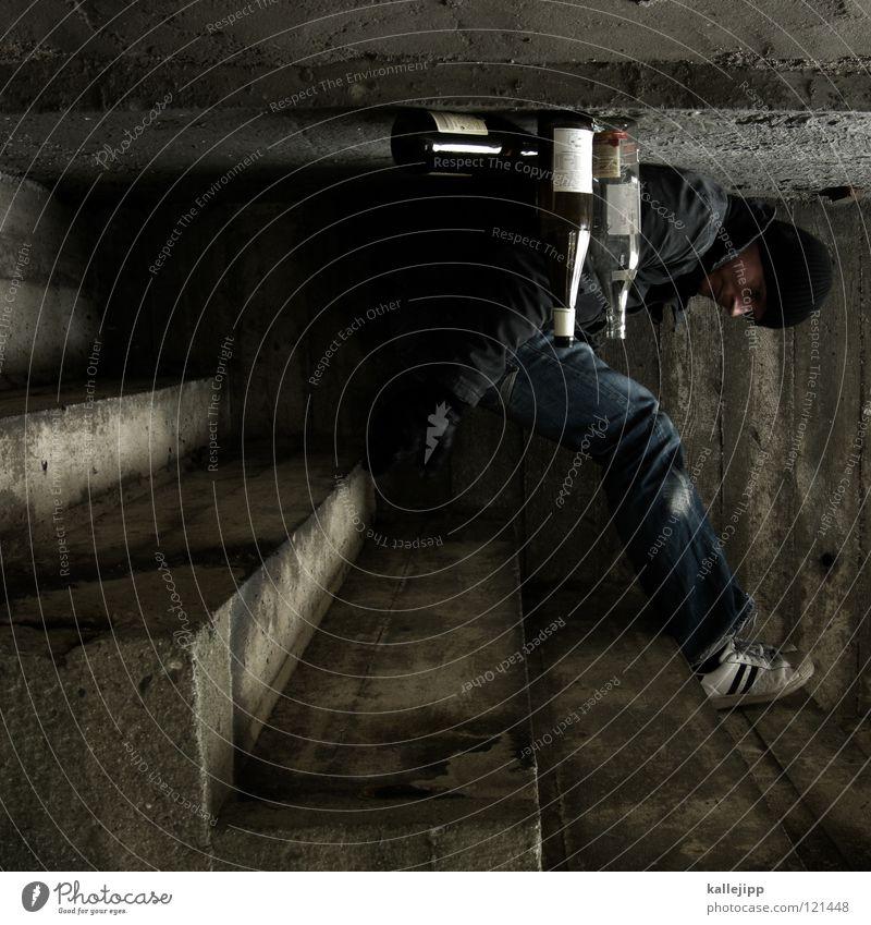 stern-hagel-voll II Mensch Mann Wand Architektur Erde Beine Raum liegen Dresden Treppe Platz Beton schlafen Ecke Körperhaltung Jeanshose