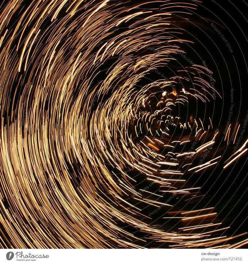 HIT THE PANIC BUTTON Hintergrundbild Feuerwerk Spirale Lichtspiel kreisen Funken Leuchtspur Fluchtpunkt Tunnelblick Wurmloch Lichtdesign