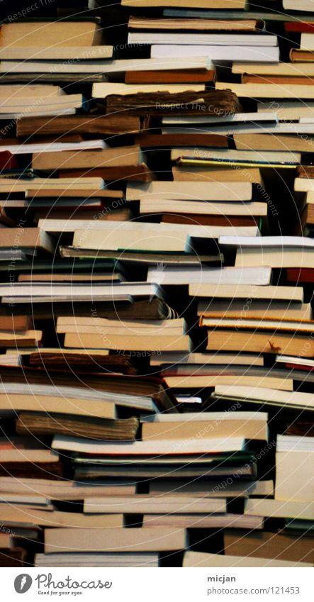 Literarisches Quartet V Buch lesen Information analog Sammlung Wissen Stapel Printmedien Anhäufung Haufen Literatur Buchladen Lesestoff Altpapier Haptik