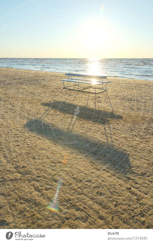 Am Strand von Jurmala Ferien & Urlaub & Reisen blau Sommer Sonne Meer Wärme Leben Küste grau braun hell Sand Horizont Freizeit & Hobby leuchten