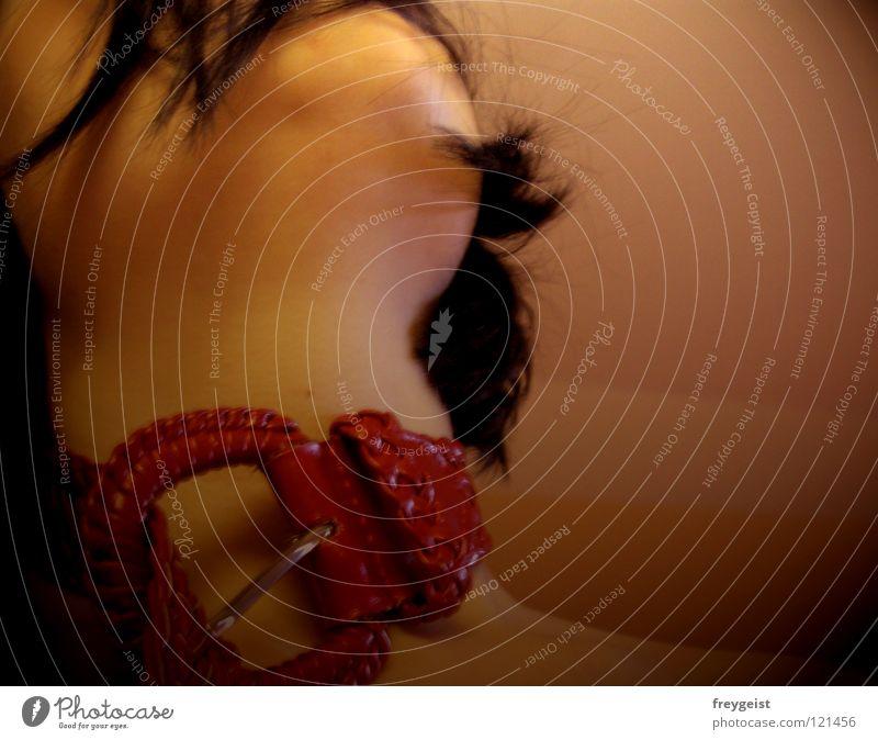 Die mit dem roten Halsband Vol. 3 Frau rot Kopf Haare & Frisuren Haut Hals Gürtel Fetischismus Halsband
