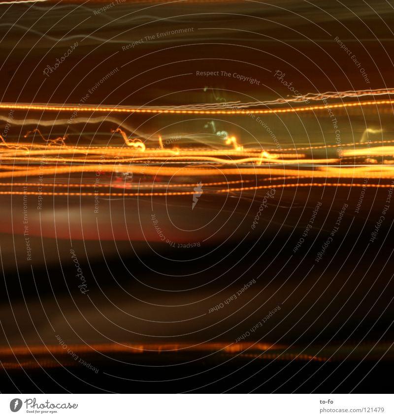 10 Sekunden Licht Leuchtspur Zeit fahren abstrakt Langzeitbelichtung Verkehr Straße Lampe