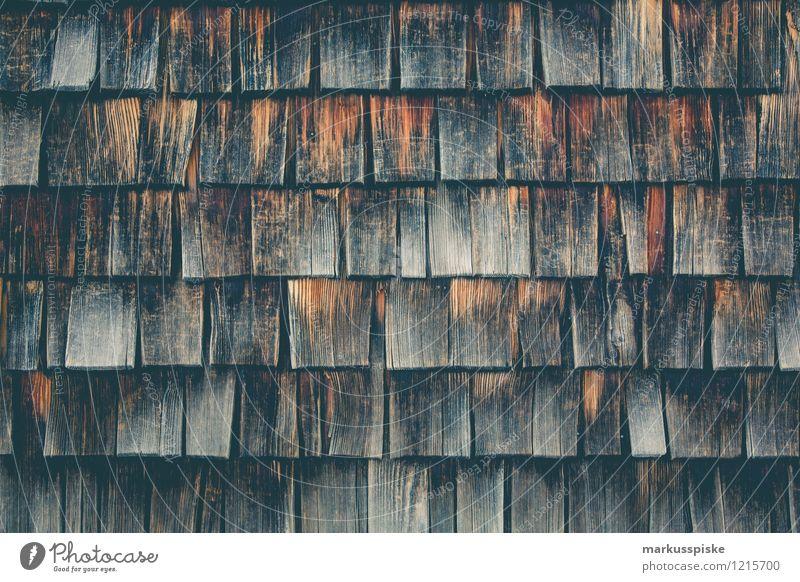 Holzschindel Haus Wand Architektur Mauer Hintergrundbild Garten Fassade Häusliches Leben authentisch Klima Dach Baustelle Bauwerk Hütte Handwerk