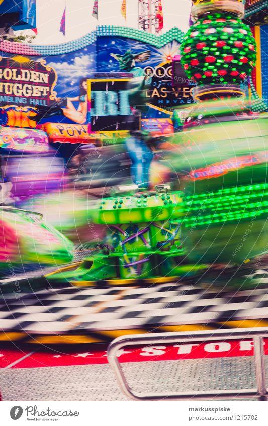 karusell Freude Bewegung Lifestyle Feste & Feiern Freizeit & Hobby Angst Kindheit Geschwindigkeit Coolness fallen fahren Veranstaltung Jahrmarkt Handel drehen
