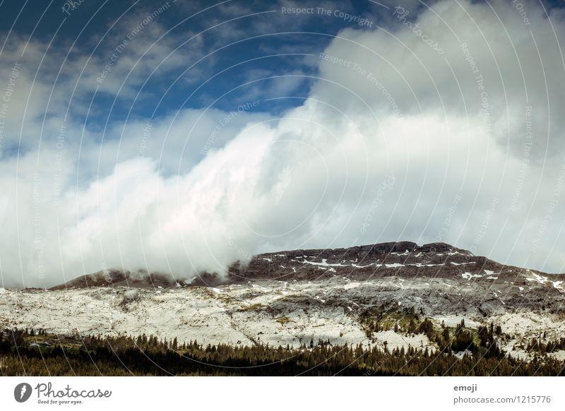 Wolkenbewegungen Himmel Natur blau Landschaft Umwelt Berge u. Gebirge natürlich Wetter Klima Alpen