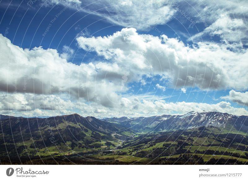 Atem. Himmel Natur blau grün Sommer Landschaft Wolken Umwelt Berge u. Gebirge natürlich Tourismus Ausflug Schönes Wetter Alpen Schweiz Wandertag