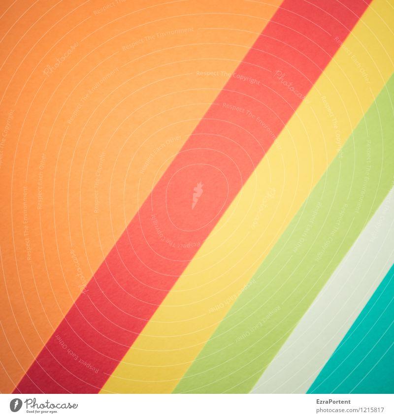 Orggwt elegant Stil Design Basteln Linie Streifen ästhetisch hell blau mehrfarbig gelb grün orange rot türkis weiß Farbe Grafik u. Illustration