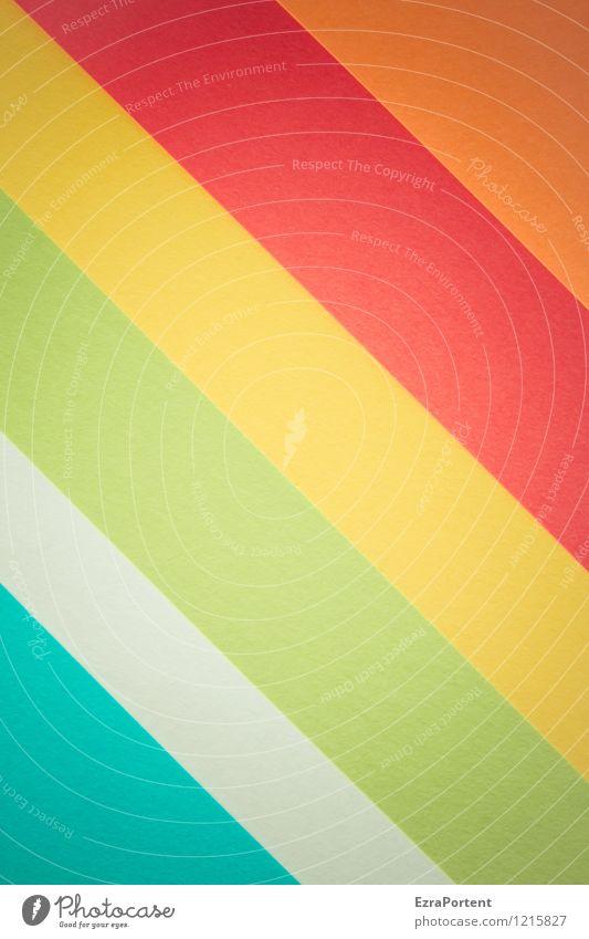 FFW Stil Design Freizeit & Hobby Spielen Linie Streifen frisch hell blau mehrfarbig gelb grün orange rot türkis weiß Farbe Werbung Grafik u. Illustration