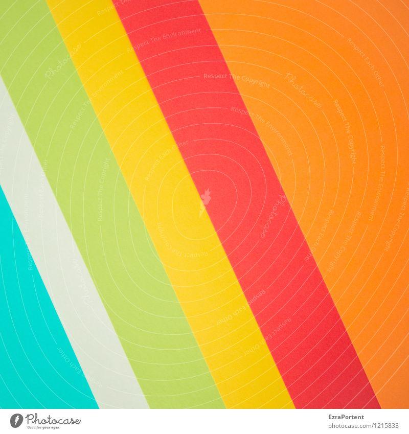 twggrO blau grün Farbe weiß rot gelb Linie hell orange Design ästhetisch Papier Streifen Grafik u. Illustration Neigung graphisch