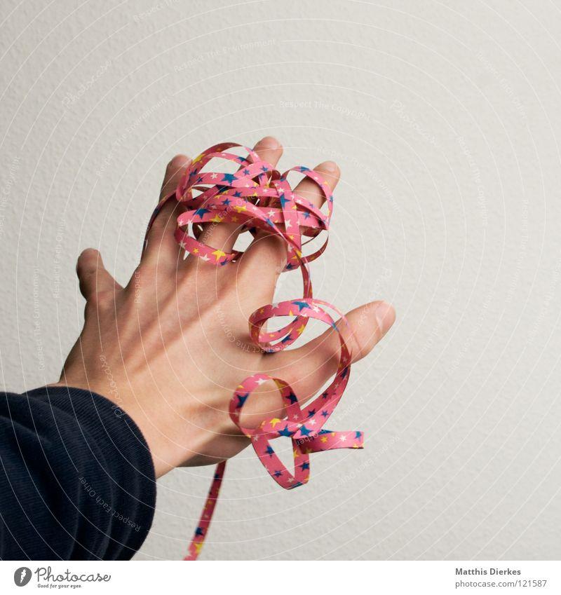Rosenmontag Hand Freude Glück Party lustig Feste & Feiern Mund Geburtstag Fröhlichkeit Finger Stern (Symbol) Bekleidung Dekoration & Verzierung Maske