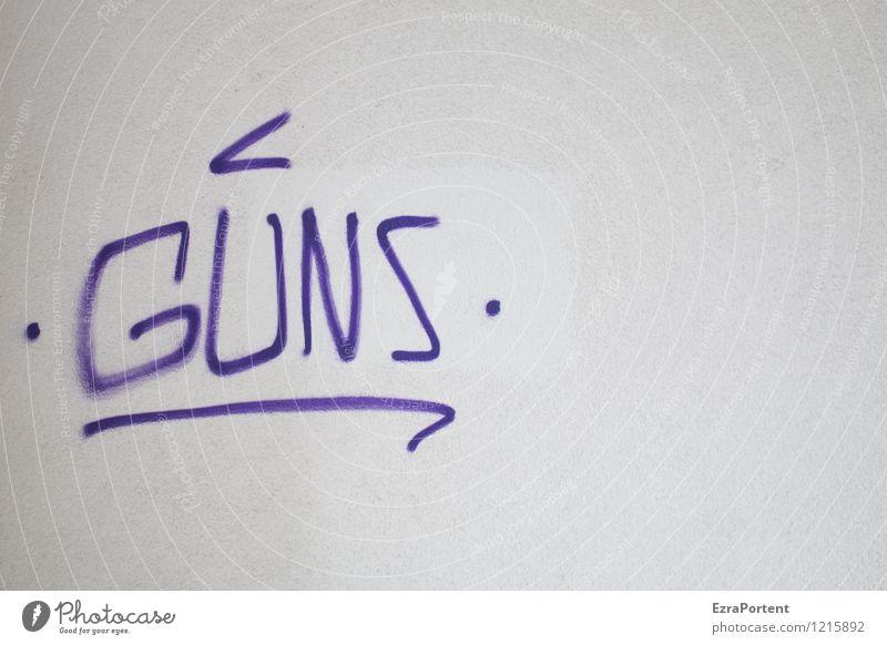 N`ROSES Stil Design Stadt Mauer Wand Fassade Beton Zeichen Schriftzeichen Graffiti Linie grau violett weiß Zerstörung Krieg Frieden Waffe Waffengewalt